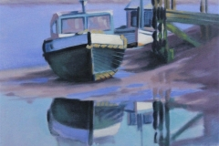 Chisnell Oil Painting Boats Norfolkcoast