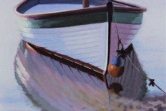 Chisnell Oil Painting Yacht reflection