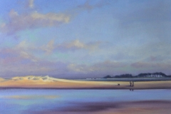 Oil painting. Chisnell. Wells beach Norfolk.