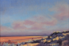 Oil painting. Chisnell. North Norfolk coast.