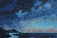 Chisnell oil painting mosaic storm at sea
