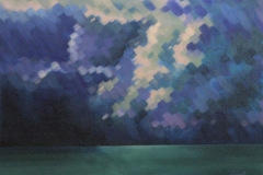 Chisnell oil painting mosaic stormy sky