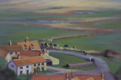 Chisnell painting 'Dun Cow' Salthouse