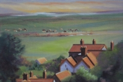 Chisnell painting North Norfolk Salthouse