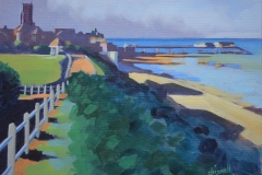 Chisnell oil painting Cromer seafront