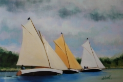 Chisnell oil painting yachts Norfolk
