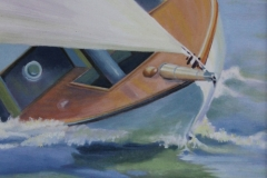 Chisnell oil painting broads yacht racing