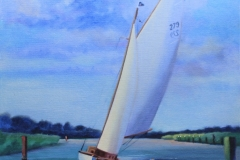 Chisnell oil painting yacht commision.