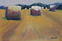 Chisnell Oil Painting Norfolk Harvest