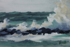 Chisnell Oil Painting SeaPalling storm
