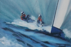 Chisnell Oil Painting 470 dinghy