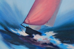 Chisnell Oil Painting RS dinghy